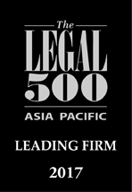 The Legal 500 ASIA PACIFIC 2017